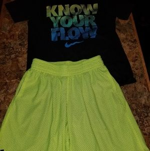 Nike dri fit  shorts outfit mix with under armour